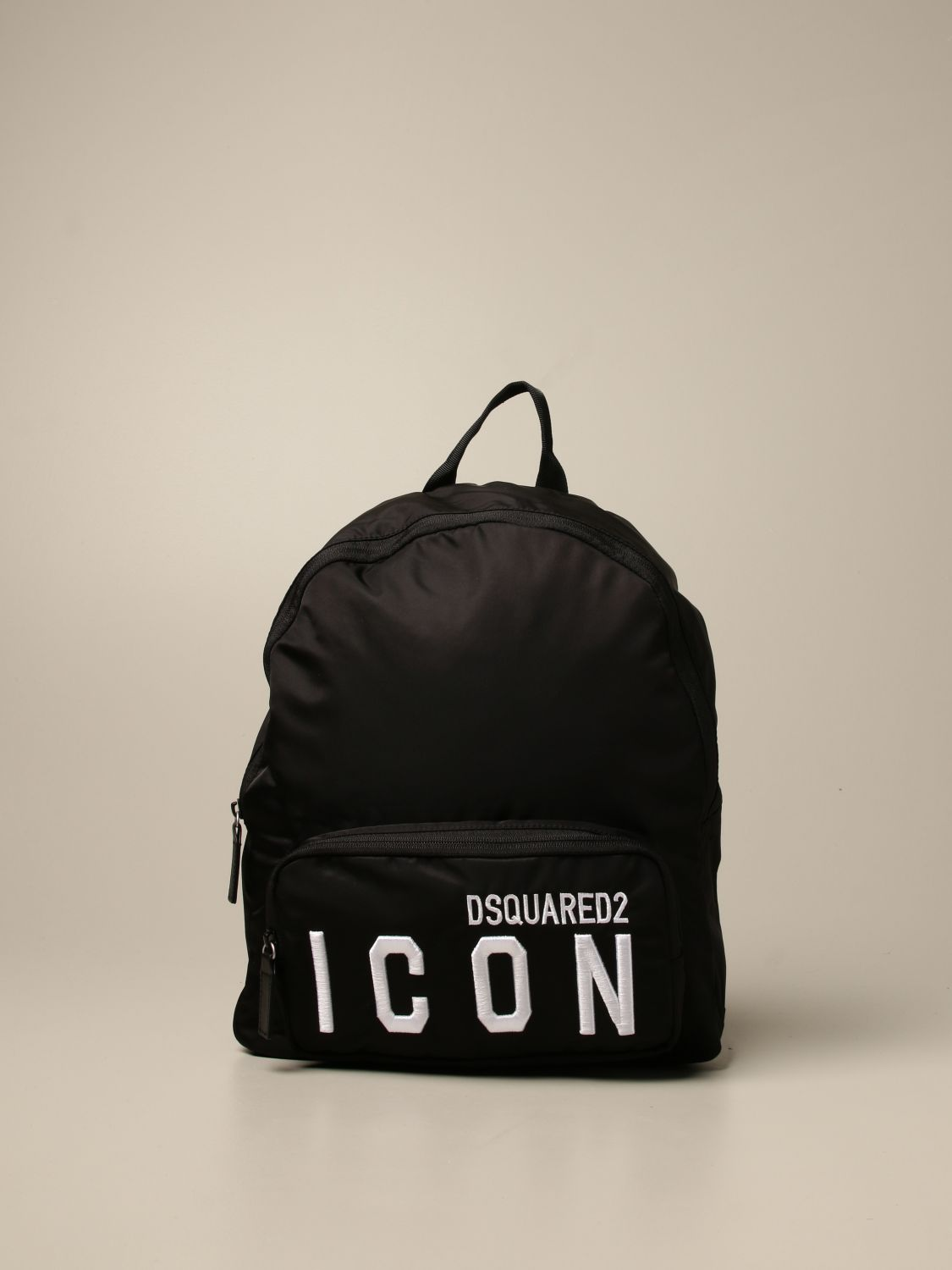 Duffel Bag Dsquared2 Junior: Dsquared2 Junior backpack in nylon with Icon logo black 1