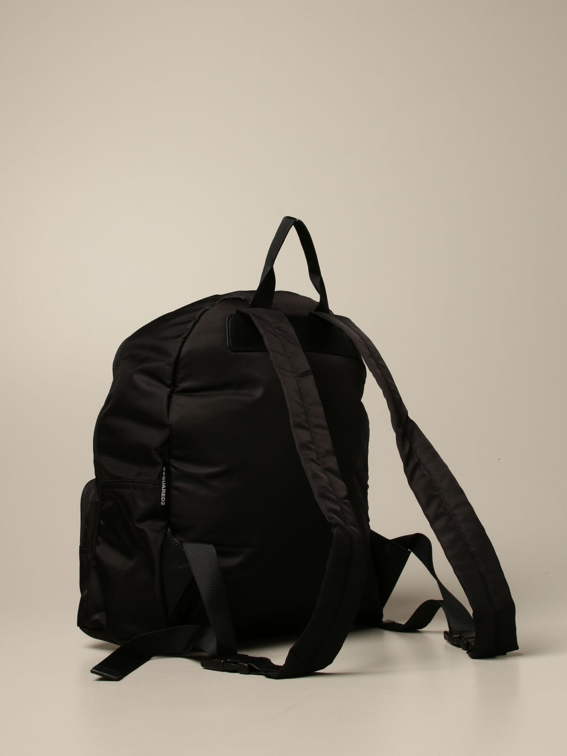 Duffel Bag Dsquared2 Junior: Dsquared2 Junior backpack in nylon with Icon logo black 2