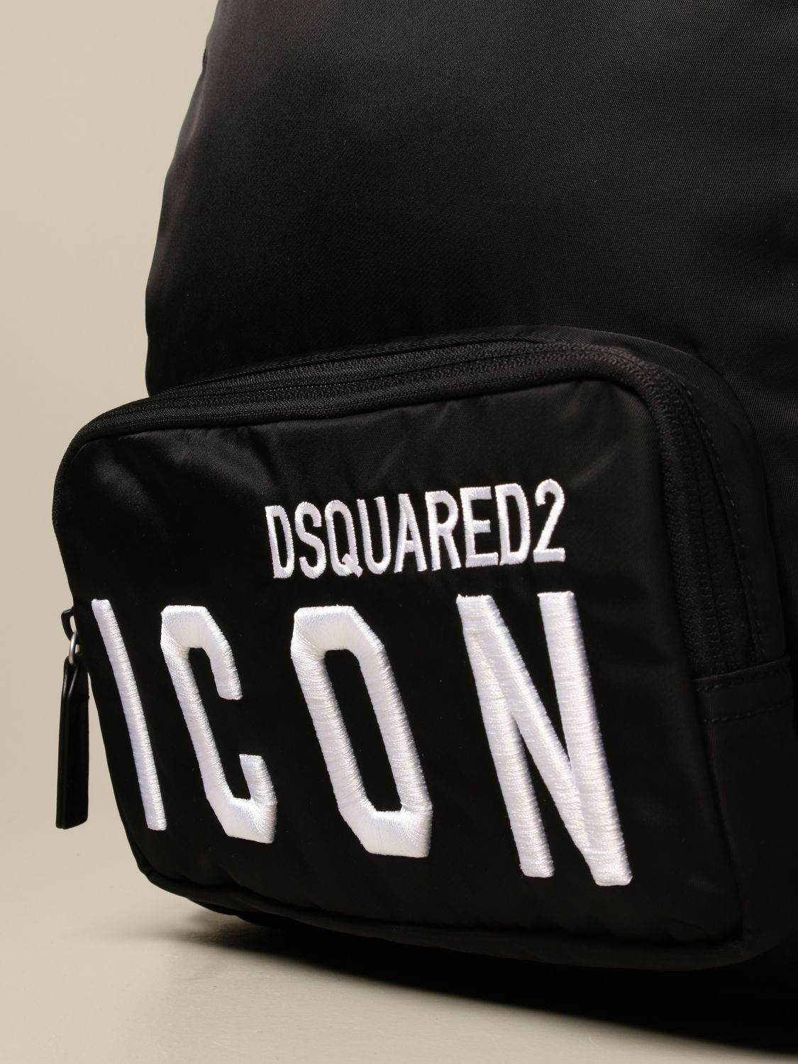Duffel Bag Dsquared2 Junior: Dsquared2 Junior backpack in nylon with Icon logo black 3