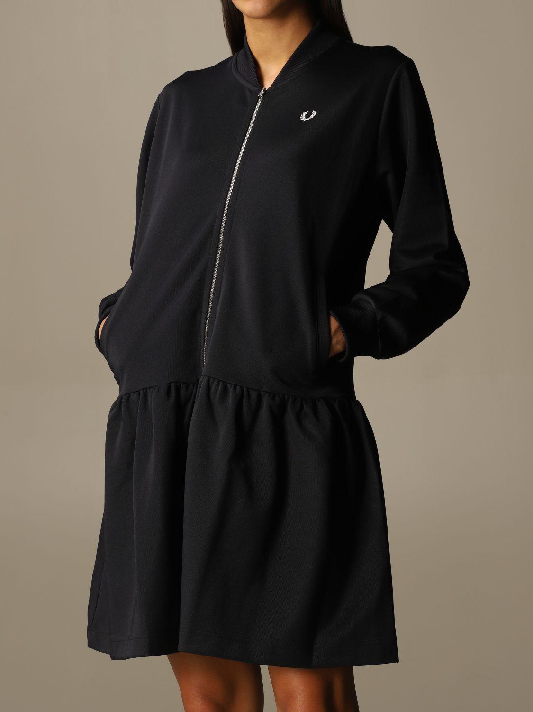 Kleid Fred Perry: Kleid damen Fred Perry blau 3
