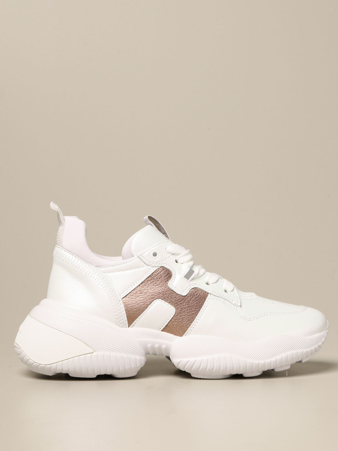 Interaction Hogan sneakers in pearly leather