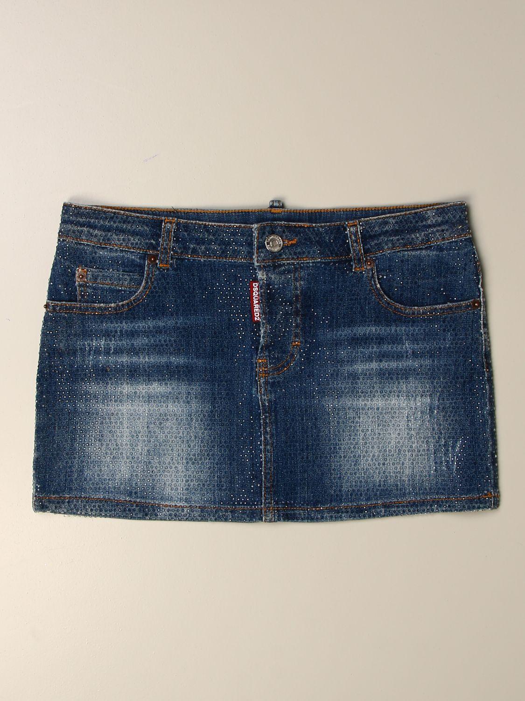 半身裙 Dsquared2 Junior: 半身裙 儿童 Dsquared2 Junior 牛仔布 1