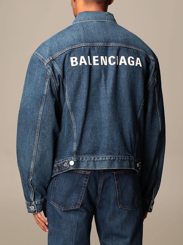 Veste Balenciaga: Veste homme Balenciaga denim 2