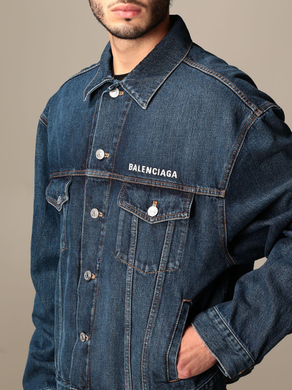 Veste Balenciaga: Veste homme Balenciaga denim 5