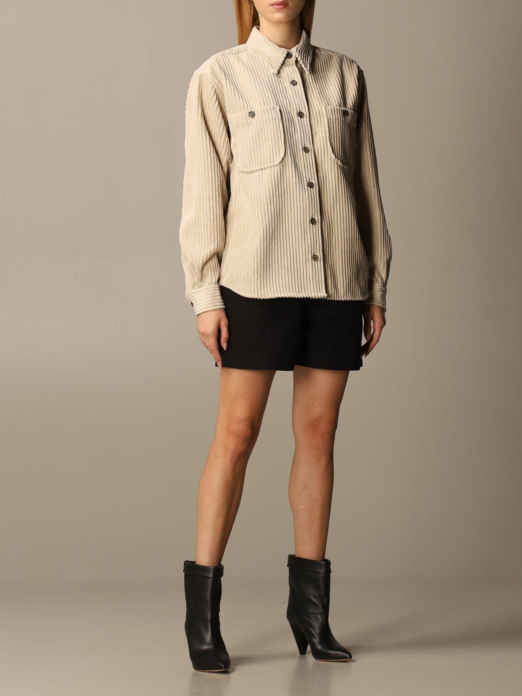 Camicia Isabel Marant: Camicia donna Isabel Marant beige 2