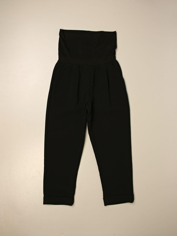 Pantalone Manila Grace: Pantalone a vita alta Manila Grace nero 1