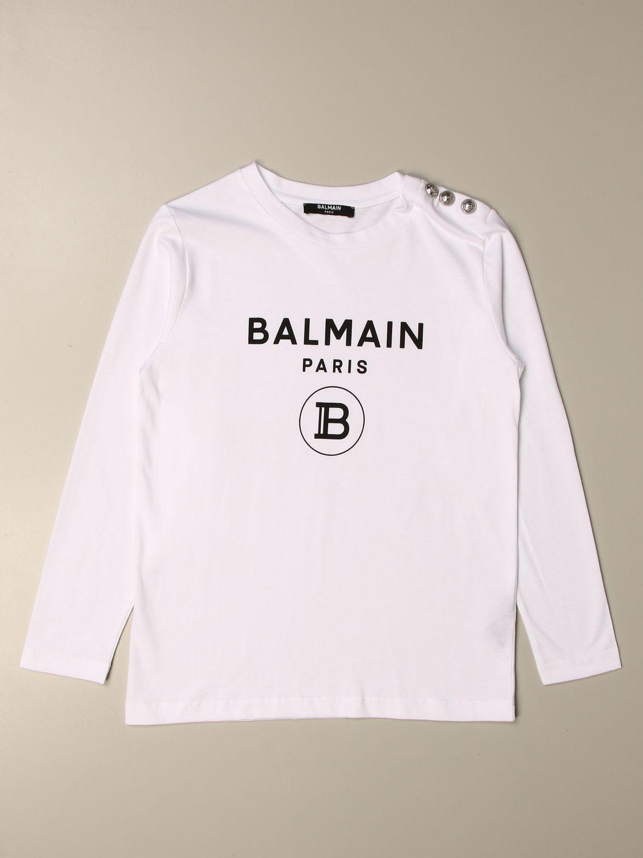Camisetas Balmain: Camisetas niños Balmain negro 1
