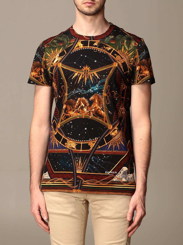T-shirt Balmain: T-shirt men Balmain multicolor 1