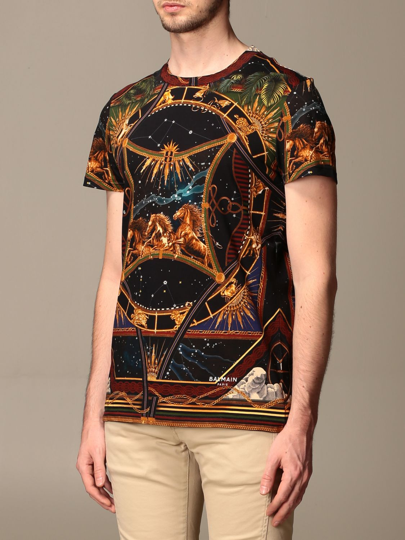 T-shirt Balmain: T-shirt men Balmain multicolor 4