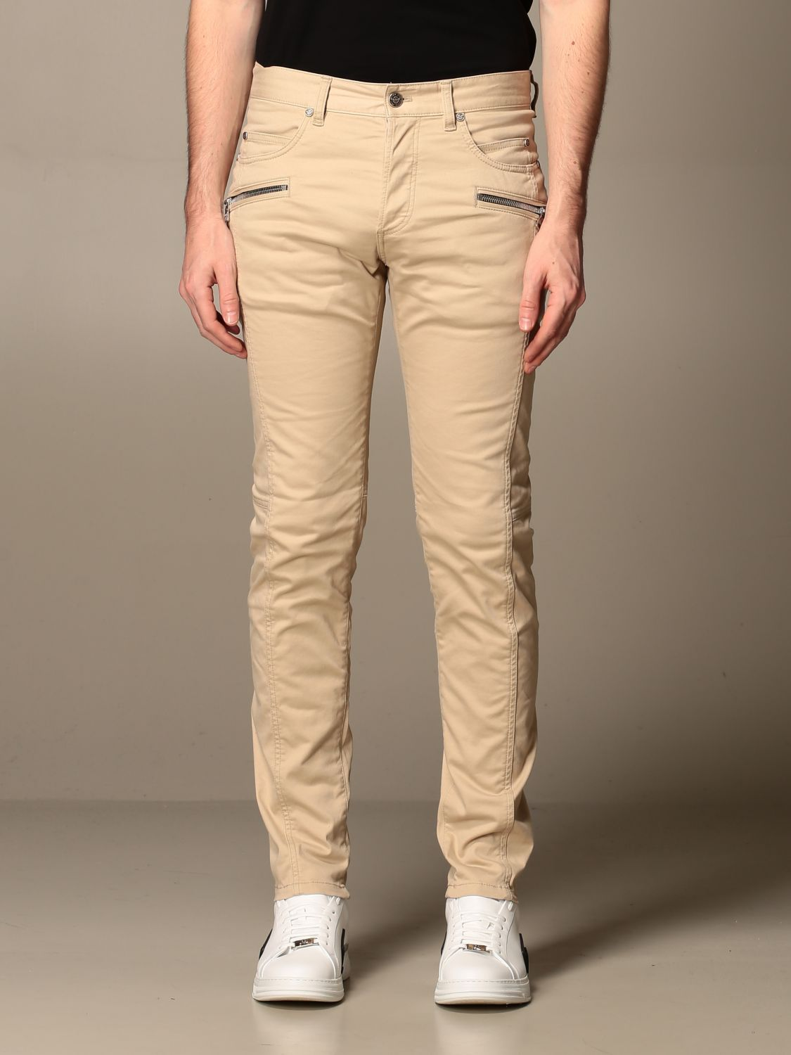 Trousers Balmain: Trousers men Balmain beige 1