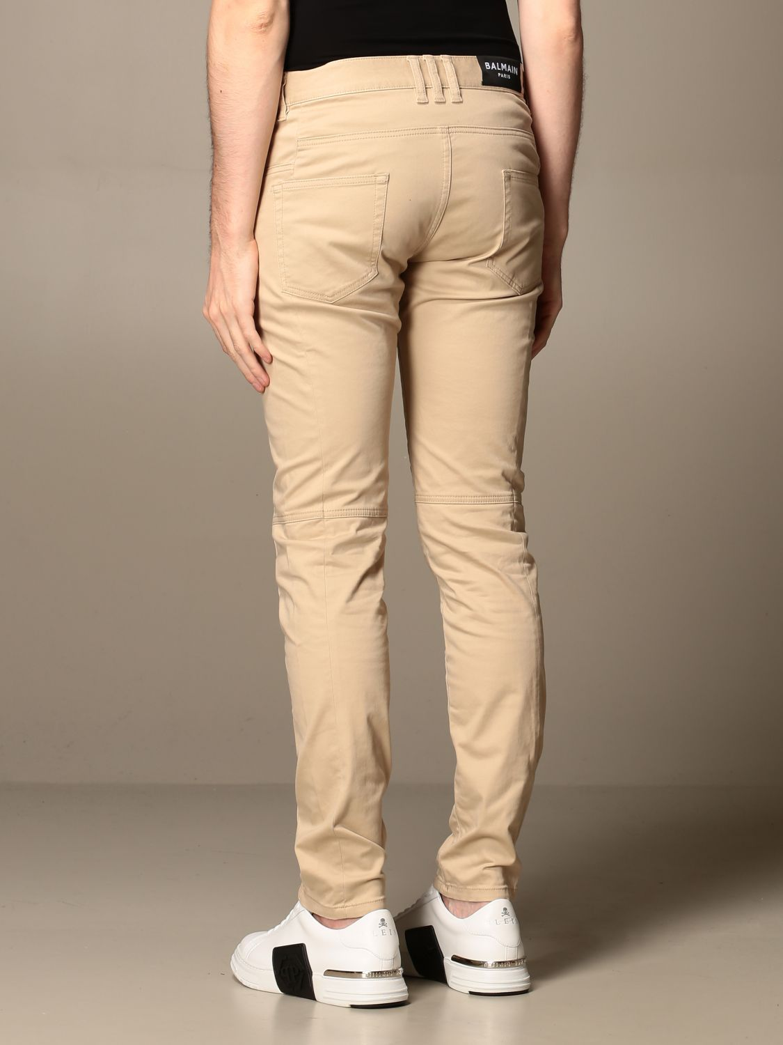 Trousers Balmain: Trousers men Balmain beige 2