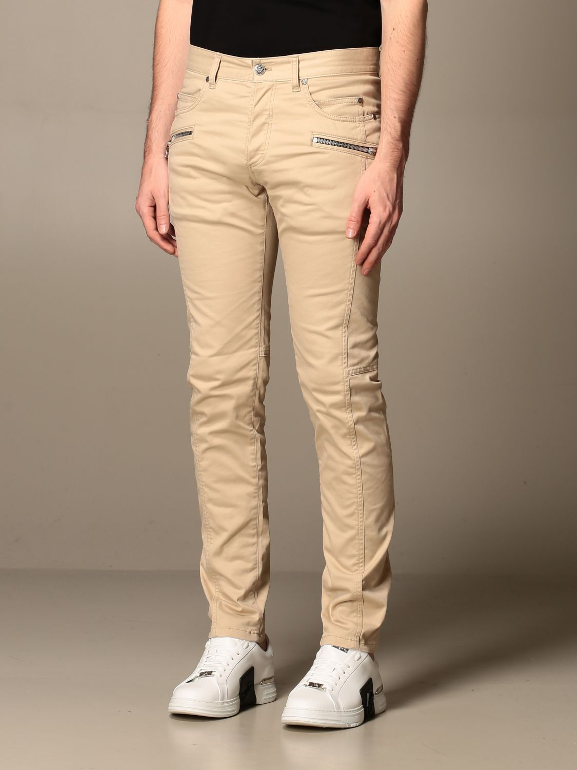 Trousers Balmain: Trousers men Balmain beige 3