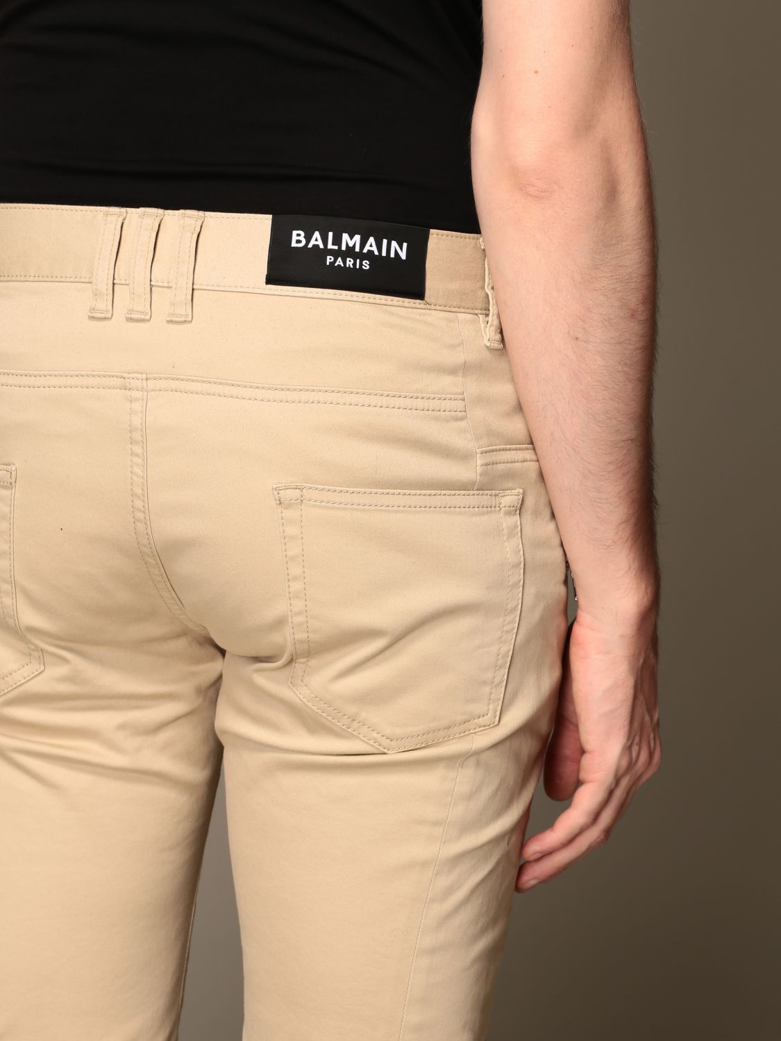 Trousers Balmain: Trousers men Balmain beige 4