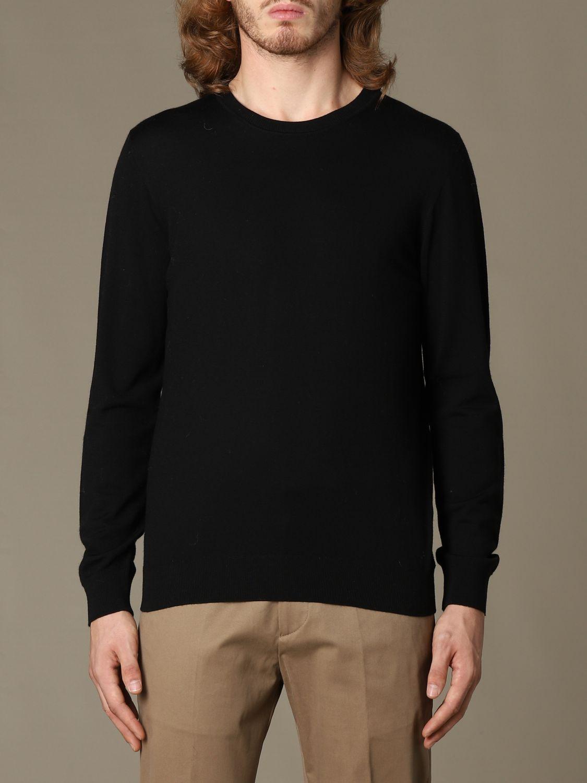 Sweater Alpha Studio: Alpha Studio basic crewneck sweater black 1