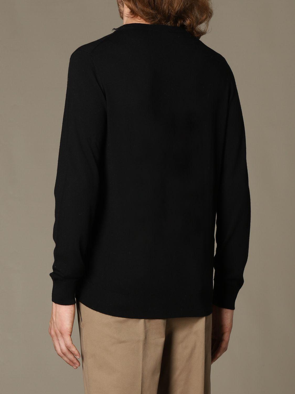 Sweater Alpha Studio: Alpha Studio basic crewneck sweater black 2