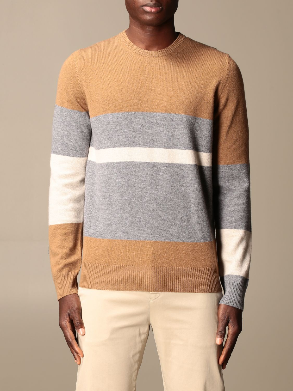 Jumper Alpha Studio: Jumper men Alpha Studio camel 1