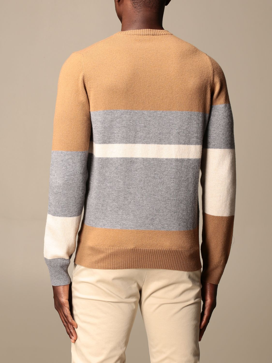 Jumper Alpha Studio: Jumper men Alpha Studio camel 2