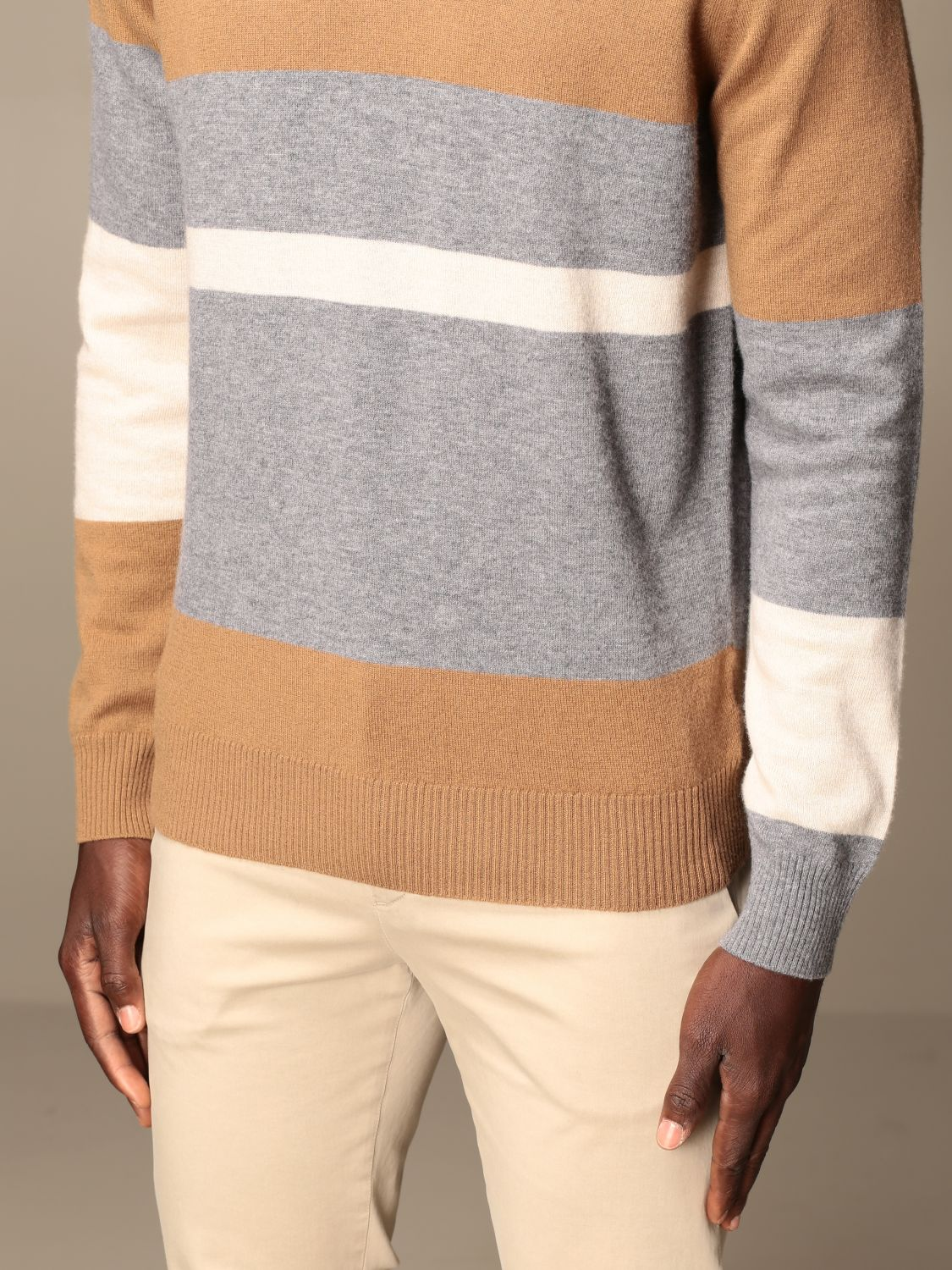 Jumper Alpha Studio: Jumper men Alpha Studio camel 3