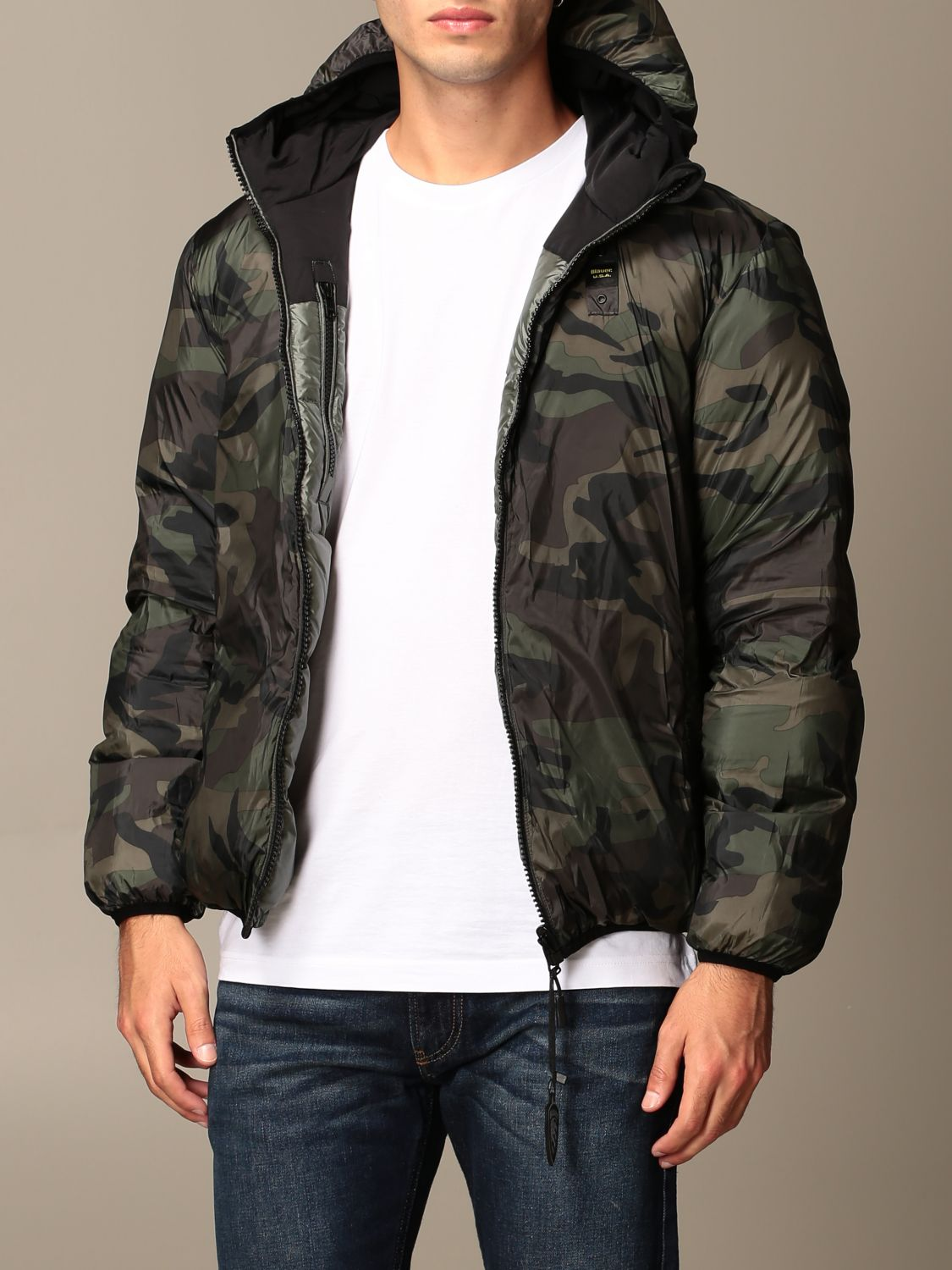 Jacket Blauer: Coat men Blauer green 3