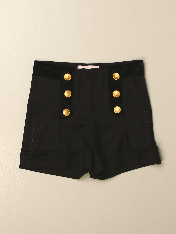 Pantalones cortos Alberta Ferretti Junior: Pantalones cortos niños Alberta Ferretti Junior negro 1