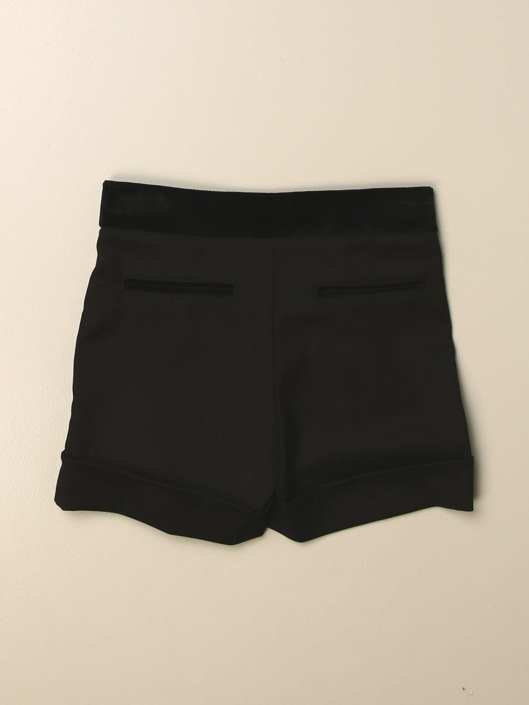 Pantalones cortos Alberta Ferretti Junior: Pantalones cortos niños Alberta Ferretti Junior negro 2
