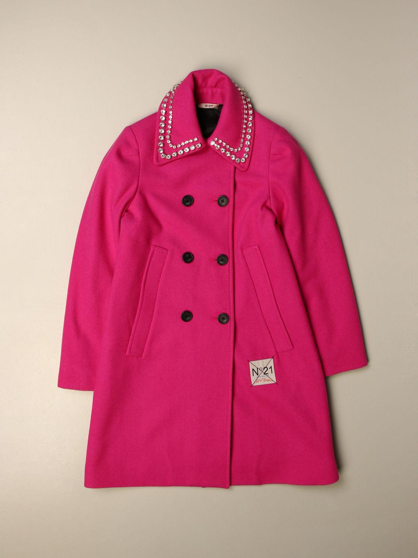 Coat N° 21: Coat kids N° 21 fuchsia 1