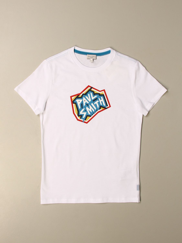 T-shirt Paul Smith Junior: T-shirt enfant Paul Smith Junior blanc 1