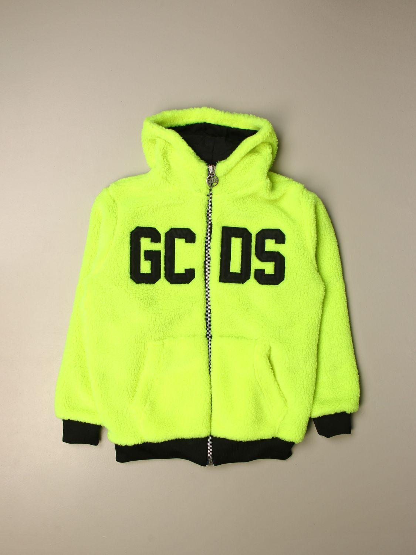 Blanket set Gcds: GCDS sweatshirt with big logo and zip yellow 1