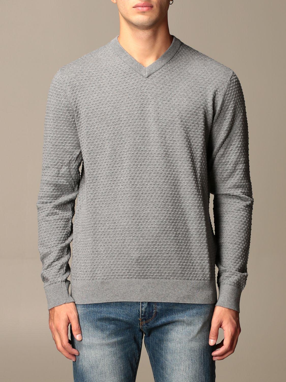 Pull Armani Exchange: Pull homme Armani Exchange gris 1