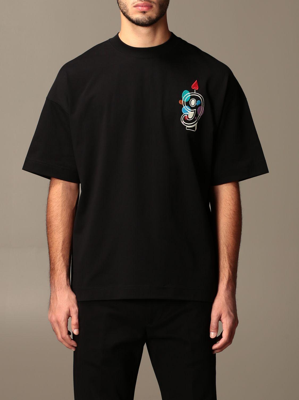 T-shirt Ami Alexandre Mattiussi: T-shirt Ami Alexandre Mattiussi con logo nero 1