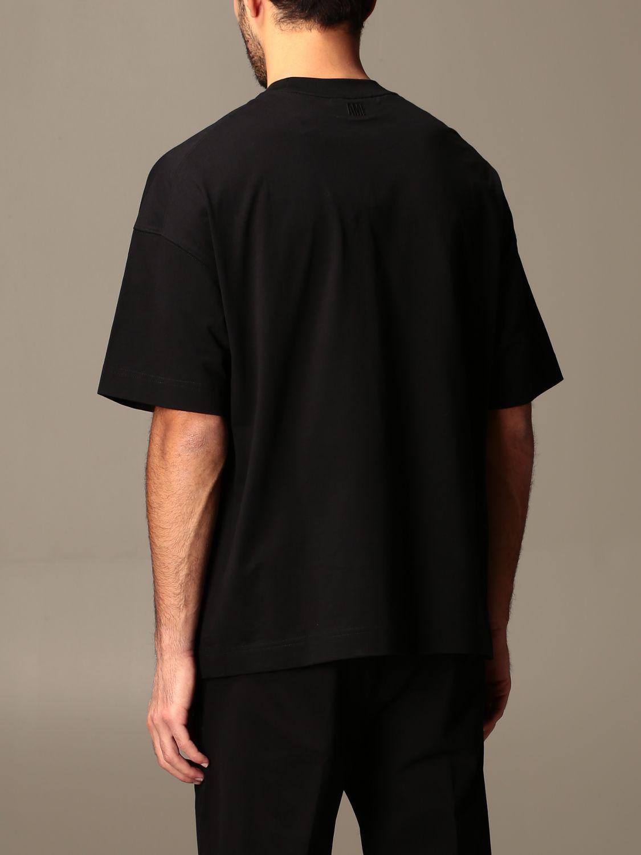 T-shirt Ami Alexandre Mattiussi: T-shirt Ami Alexandre Mattiussi con logo nero 2
