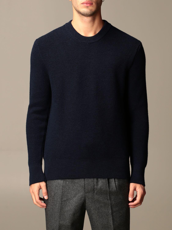 Sweater Ami Alexandre Mattiussi: Ami Alexandre Mattiussi basic crewneck sweater navy 1