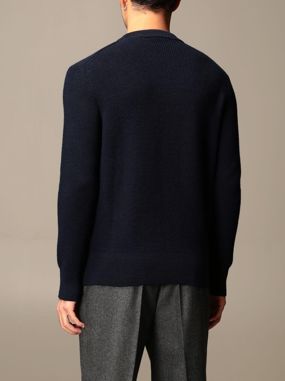 Sweater Ami Alexandre Mattiussi: Ami Alexandre Mattiussi basic crewneck sweater navy 2