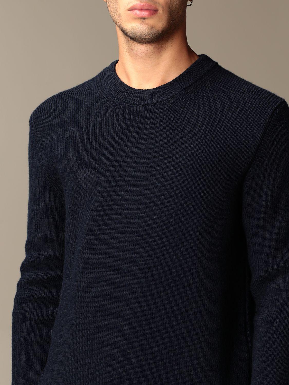 Sweater Ami Alexandre Mattiussi: Ami Alexandre Mattiussi basic crewneck sweater navy 3