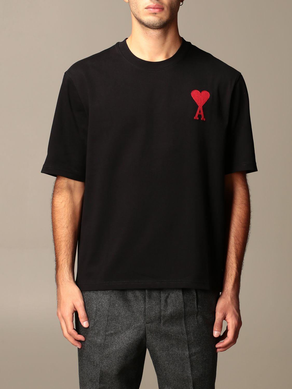 T-shirt Ami Alexandre Mattiussi: T-shirt men Ami Alexandre Mattiussi black 1