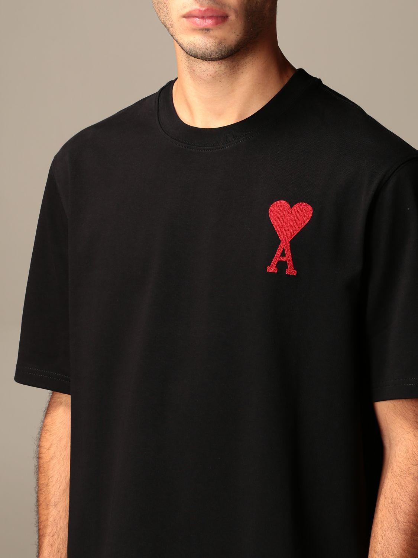 T-shirt Ami Alexandre Mattiussi: T-shirt men Ami Alexandre Mattiussi black 3