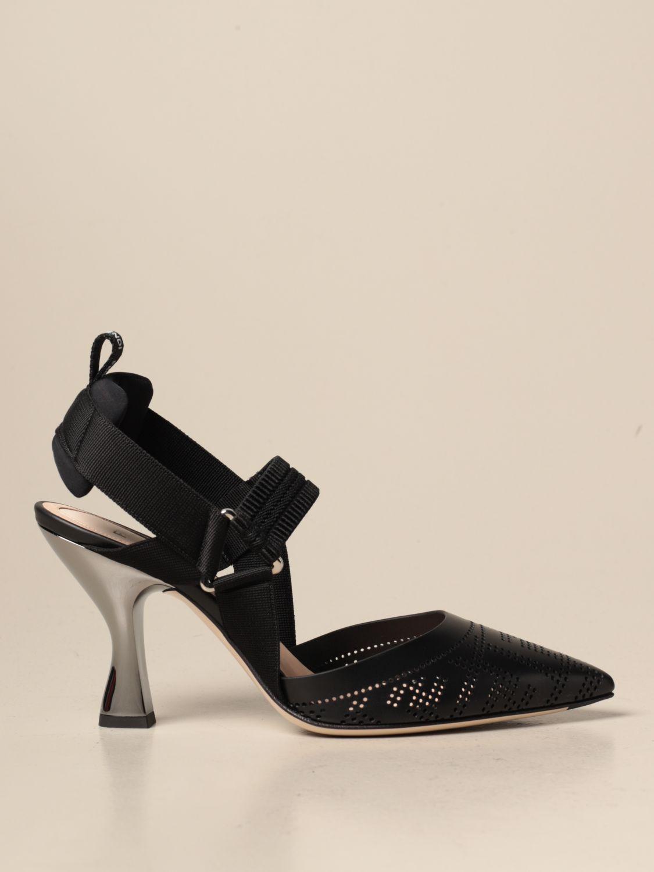 Sandalen mit Absatz Fendi: Schuhe damen Fendi schwarz 1