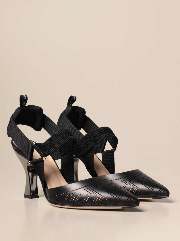 Sandalen mit Absatz Fendi: Schuhe damen Fendi schwarz 2