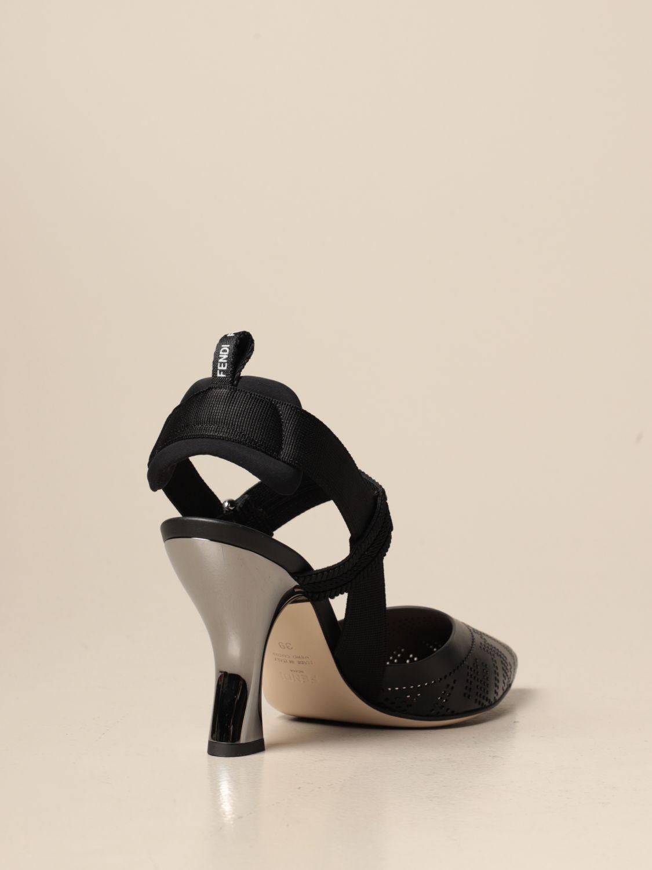 Sandalen mit Absatz Fendi: Schuhe damen Fendi schwarz 3