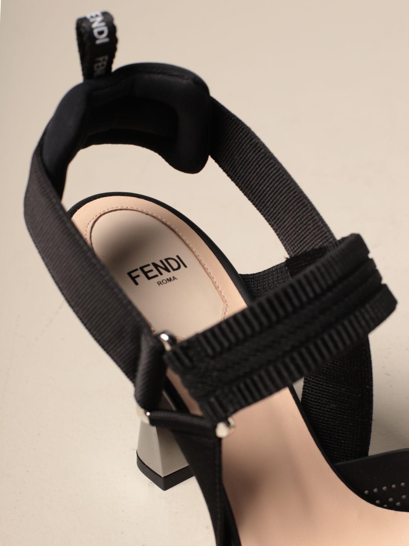 Sandalen mit Absatz Fendi: Schuhe damen Fendi schwarz 4