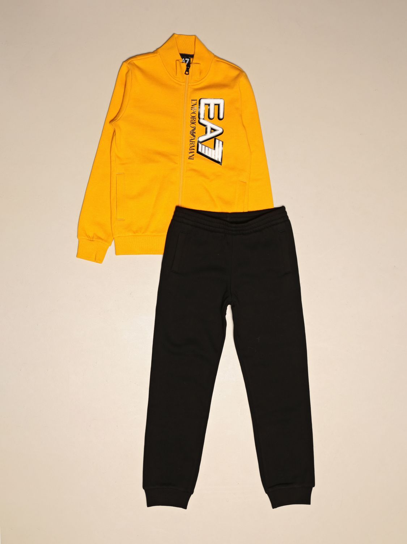 Tracksuit Ea7: Complete sweatshirt + EA7 trousers with logo yellow 1