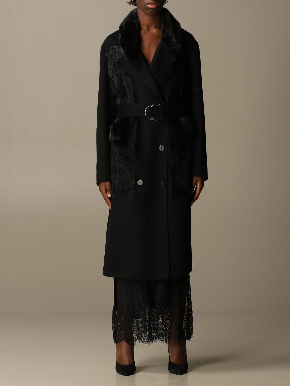 Coat S.w.o.r.d.: Long coat S.w.o.r.d. of fur black 1