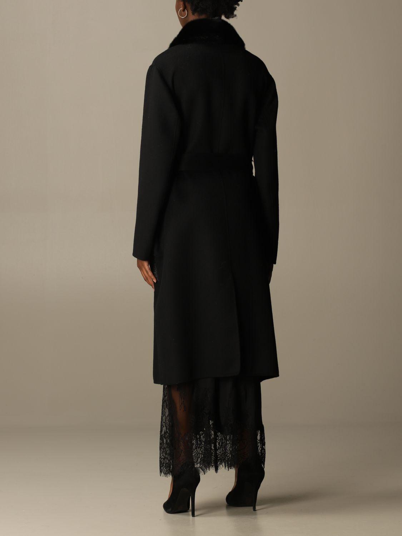 Coat S.w.o.r.d.: Long coat S.w.o.r.d. of fur black 3