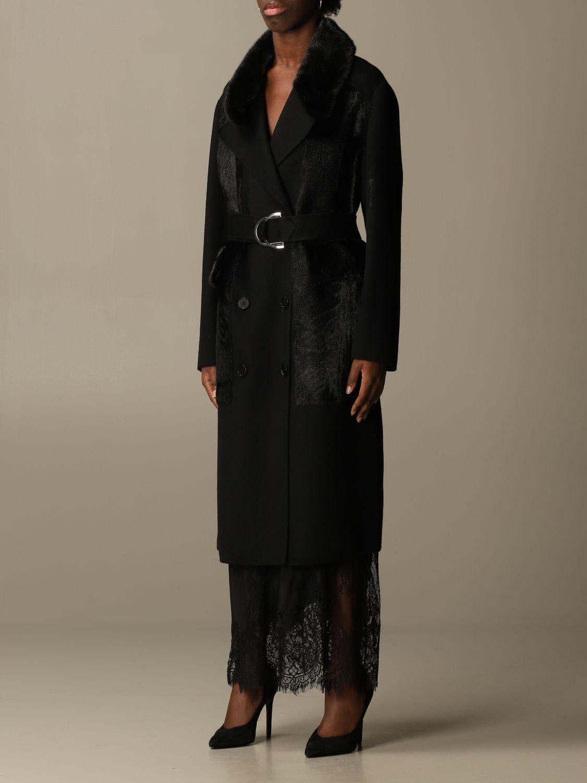 Coat S.w.o.r.d.: Long coat S.w.o.r.d. of fur black 4