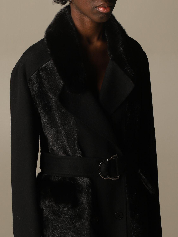 Coat S.w.o.r.d.: Long coat S.w.o.r.d. of fur black 5