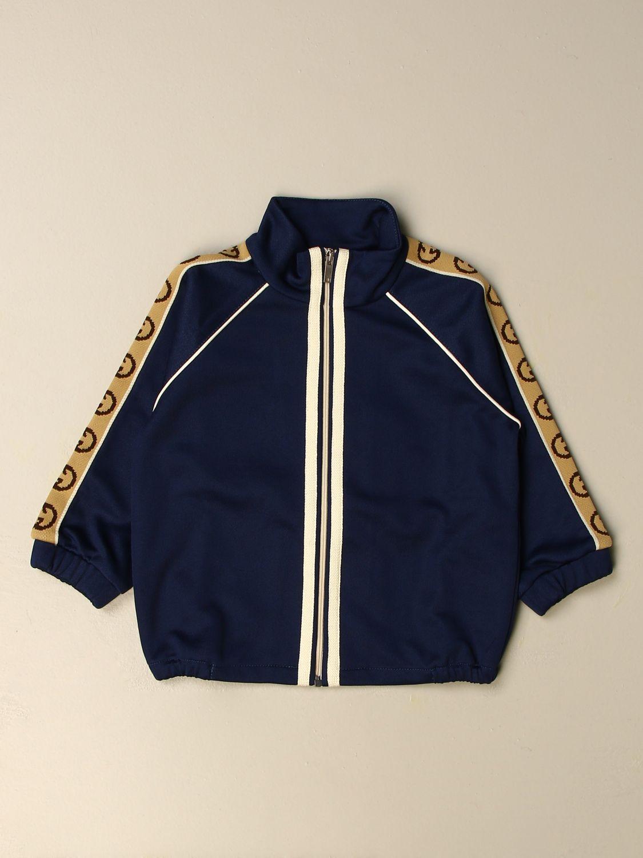Maglia Gucci: Felpa Gucci con bande logate blue 1