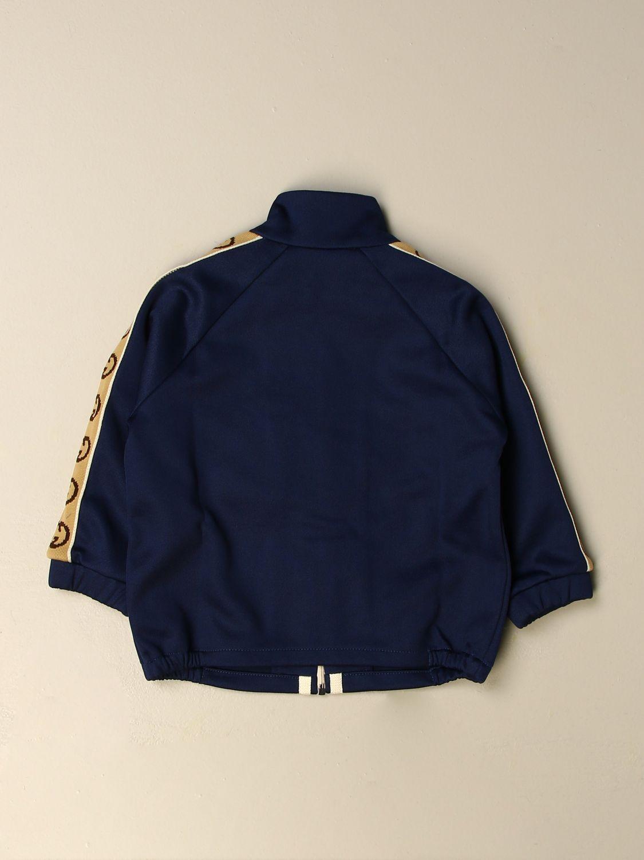 Maglia Gucci: Felpa Gucci con bande logate blue 2