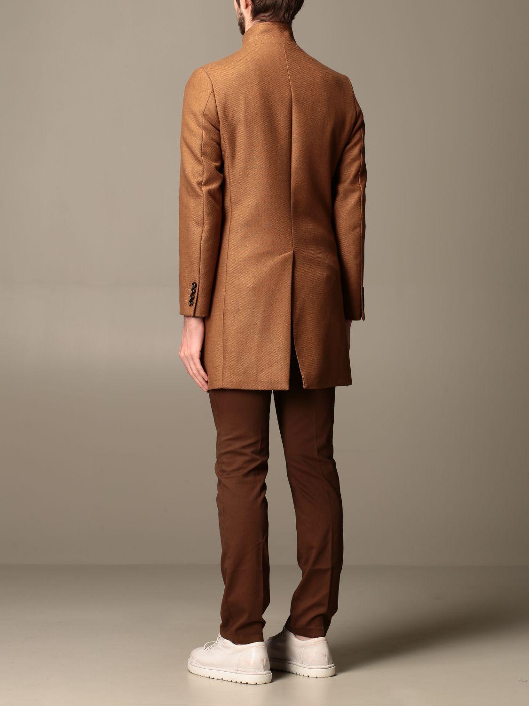 Coat Alessandro Dell'acqua: Coat men Alessandro Dell'acqua camel 2