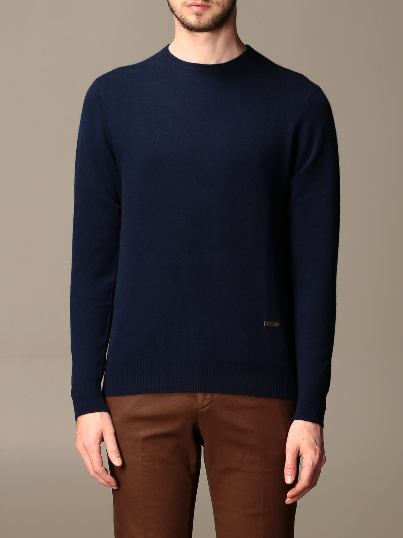 Sweater Alessandro Dell'acqua: Alessandro Dell'acqua cashmere crewneck sweater blue 1