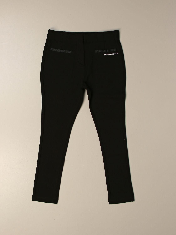 Trousers Karl Lagerfeld: Trousers kids Karl Lagerfeld black 2